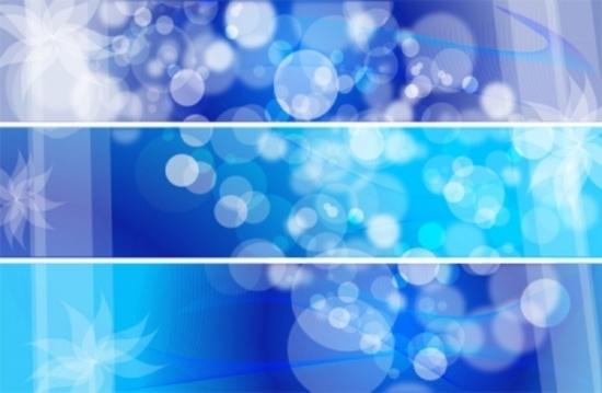 Blue Bubbles Triple Background