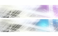Pink and Blue Vector Banners