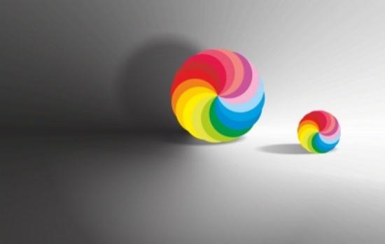 Colorful Rainbow Balls Abstract