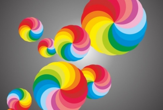 Colorful Abstract Balls Design