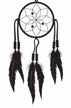 Vector Dreamcatcher Silhouette