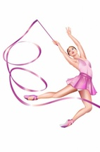 Rhythmic Gymnastics Girl Vector