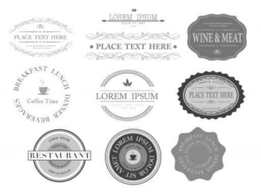 Elegant Business Labels Design