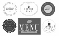 Menu Restaurant Vector Labels