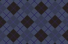 Dark Blue Tartan Pattern