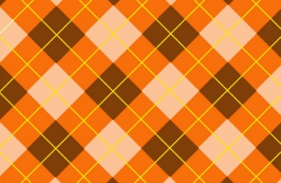 Orange Tartan Backdrip