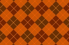 Browny-Orange Tartan