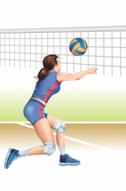 Volleyball Girl Player