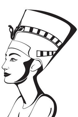 Nefertiti Portrait Silhouette