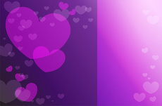 Purple Hearts Vector Background