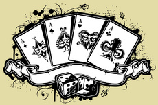 Vector Poker Abstract Casino Illustration