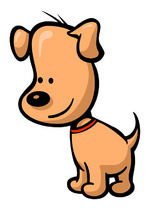Cartoon Dog Vector Illustration