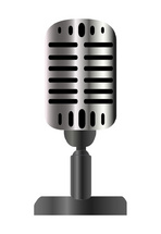 Vintage Microphone Vector Illustration