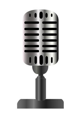 Vintage Microphone Vector Illustration