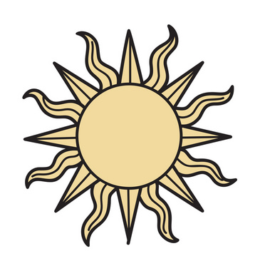Cool Sun Vector Illustration