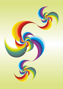 Colorful Abstract Twister