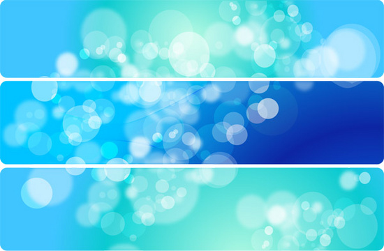 Bubble Blurs Blue Vector Banners