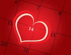 Valentine Day Calendar Date