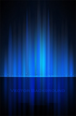 Glowing Blue Abstract Background