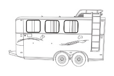 Horse Trailer Vector Draw