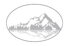 Mountains Ellipse Vector Logo Concept