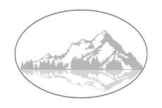 Mountains Ellipse Vector Logo Concept