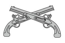 Crossing Pistols Vector Concept