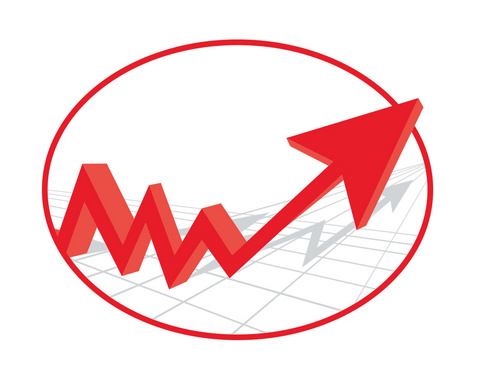 Growth Red Arrow Concept