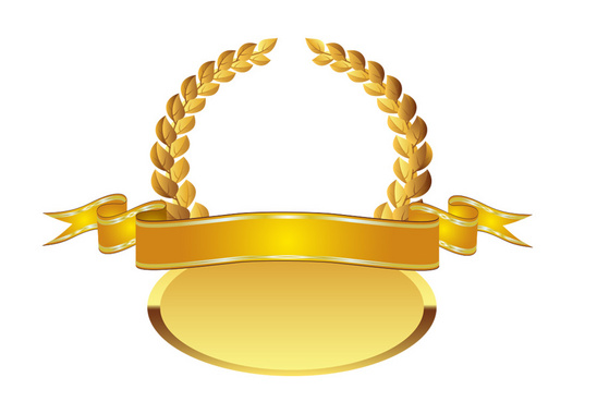 Golden Award Vector Concept