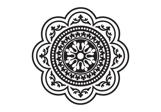 Vector Circular Ornamental Element