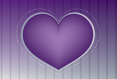 Purple Heart Vector Design