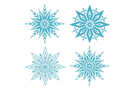 Beautiful Vector Snowflakes