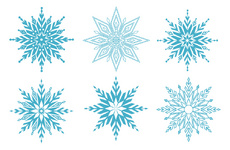 Cool Vector Snowflakes Graphic
