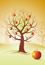 Apple Tree Vector Concept