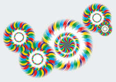 Colorful Abstract Vector Circles