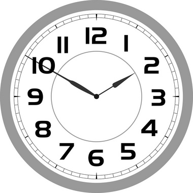 Simple Vector Wall Clock