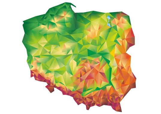 Creative Geometric Map of Poland